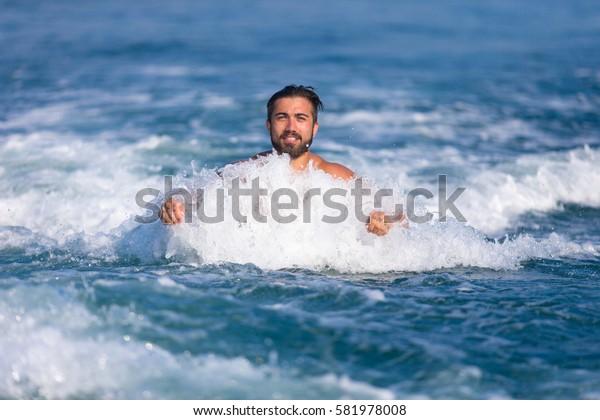 Male at sea