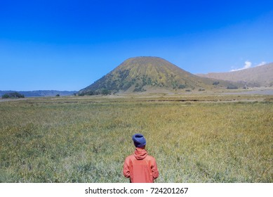 Male see on mountain Bromo