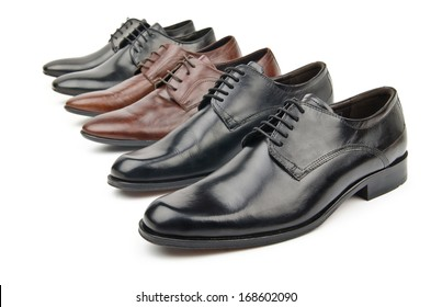 Male shoes in fashion concept