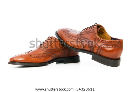 Male Shoes Isolated On White Background Stock Photo Edit