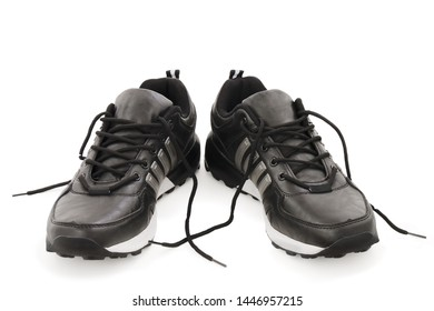 male sports shoes on white background