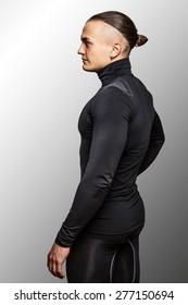 male in sportswear isolated on white backgroun