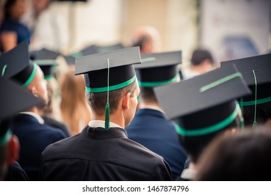 Male student on his graduation ceremony in graduation hat