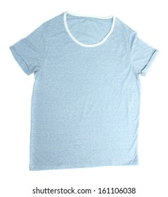 Male t-shirt isolated on white
