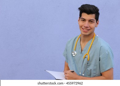 Male who is going to nursing school