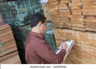 Male worker in the warehouse