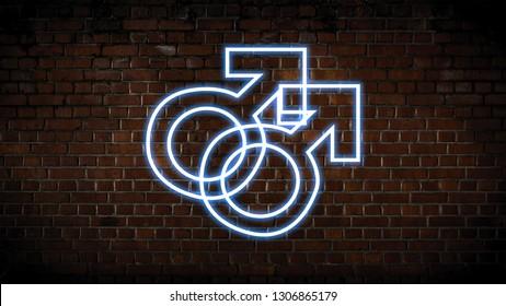 Male x Male neon sign