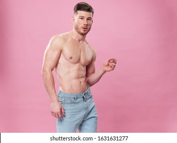 male young guy with a beautiful body