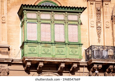 maletese typical balcony in the city of valletta - Shutterstock ID 1968547669