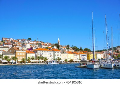 Mali Losinj. Island. Croatia, Adriatic coast. Old Mediterranean  town.