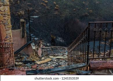 Malibu after Woolsey Fire Burnt Landscape