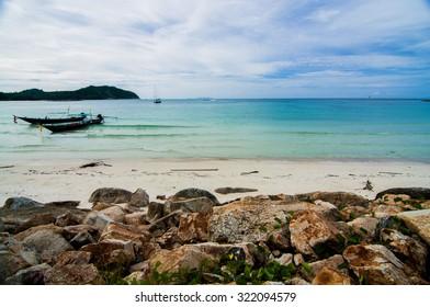 Malibu beach in Koh Pha Ngan island, Thailand.