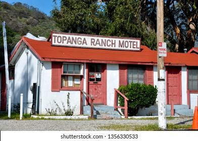 MALIBU, CALIFORNIA - FEB 5, 2011  The Topanga Ranch Motel, a Malibu fixture, was finally closed in 2005, displacing several remaining long time residents.
