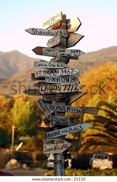 Malibu California signpost