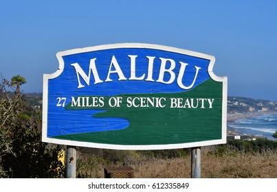 Malibu, California, USA - july 15 2016 : the road between Malibu and Santa Monica