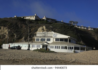 MALIBU - SEPTEMBER 1: Sunset Beach where the rich and famous (Bob Dylan, Owen Wilson) own homes just above this beach on September 1, 2011 in Malibu, California.