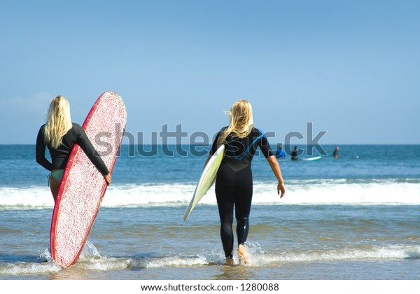 Malibu Surf Girls Stock Photo Edit Now 1280088