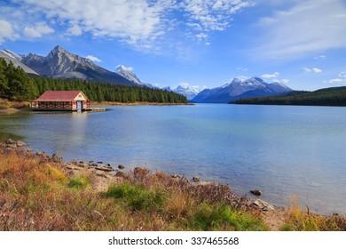 Maligne Lake in Jasper National park, Alberta, Canada
