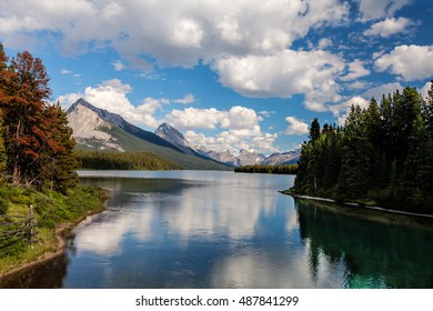 Maligne Lake- Jasper National Park- Alberta- CA This pretty and very isolated lake is located on a very remote and interesting road southeast of Jasper.