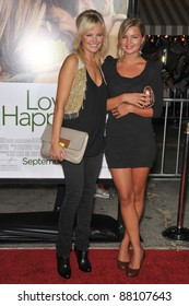 "Malin Akerman (left) & sister at the world premiere of ""Love Happens"" at the mann Village Theatre, Westwood. September 15, 2009  Los Angeles, CA Picture: Paul Smith / Featureflash"