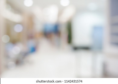 mall and department store with shopping people blur image background defocused