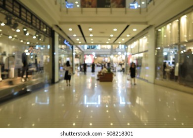 Mall interior, Shopping Department Store blur abstract background