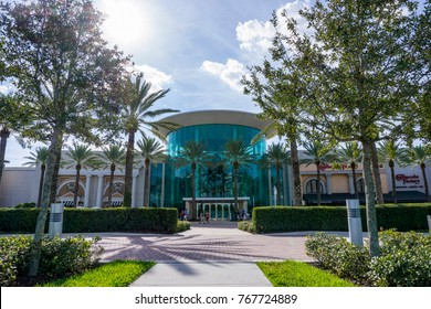 Mall at the Millenia on December 3, 2017 in Orlando, Florida, USA.  The Millenia Mall is an upscale shopping center in Orlando, Florida.