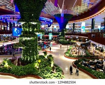 "Mall of Qatar, Al Rayyan, Doha, Qatar - 24th October 2018: Modern stylish ""Mall of Qatar' details and architecture. Concept of modern development"