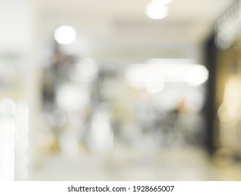 Mall store blurred background with bokeh. Defocused image for design template