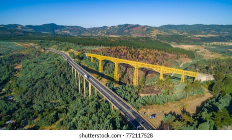 The Malleco viaduct is a Chilean railway bridge located on the Malleco River, in the city of Collipulli, Araucanía Region. With its 102 meters high, it is the second highest bridge in Chile