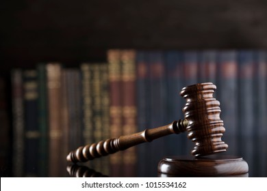 Mallet of the judge. Law code.