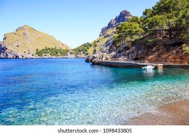 Mallorca beach view in summer