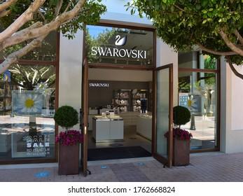 MALLORCA, ESPAIN - JANUARY 20, 2020:  SWAROVSKI STORE MALLORCA FASHION OUTLET.