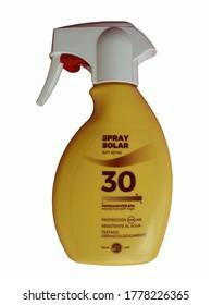 MALLORCA, SPAIN - JULY 16, 2020:  Mercadona sun cream investigated for possible defect