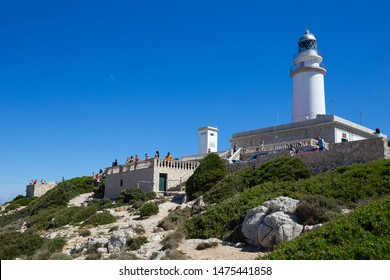 Mallorca, Spain - June 3 2019 : Lighthouse at Cape Formentor