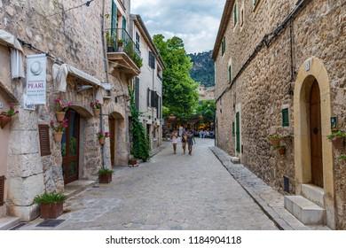 Mallorca, Spain - May 12 2018: Valldemossa.