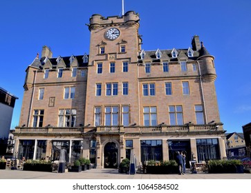 Malmaison hotel and restaurant, luxury hotel chain. Tower Place, Leith harbour, Edinburgh Scotland. UK. April 2018