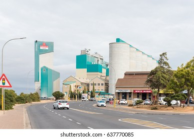 MALMESBURY, SOUTH AFRICA - MARCH 31, 2017: Silos and a mill in Malmesbury, a town in the Swartland area of the Western Cape Province