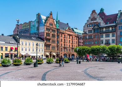 Malmo, Sweden - 20 may 2018: Stortorget in Malmo.