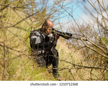 Malmo - Sweden April 22 2017: Birdwatchers photographing in nature