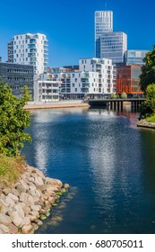 MALMO, SWEDEN - AUGUST 27, 2016: Contemporary architecture in Malmo, Sweden.