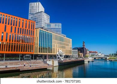 MALMO, SWEDEN - AUGUST 27, 2016: Contemporary architecture in Malmo, Sweden.