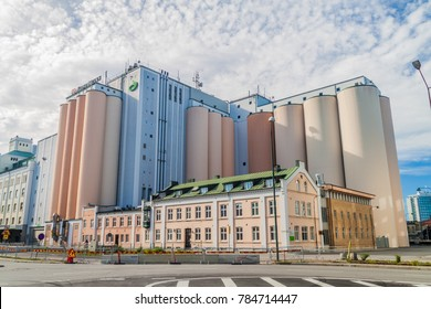 MALMO, SWEDEN - AUGUST 27, 2016: Nord Mills flour mill in Malmo, Sweden.