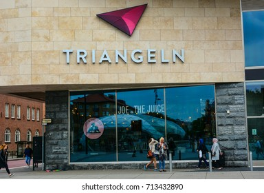 Malmo, Sweden - July 26, 2017: Triangeln shopping center in Swedish city Malmo, Innerstaden district of Malmo