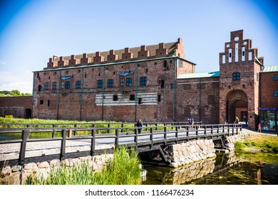 MALMO, SWEDEN - June 2018: Malmo castle historical fortification in Malmo city, Sweden