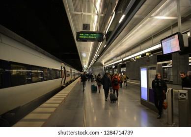 Malmo, Sweden – November 24, 2018: Malmo Central Train Station, Malmo, Sweden, Scandinavia, Europe