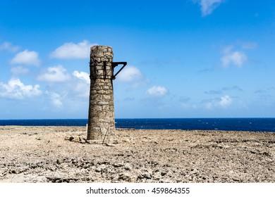 Malmok - old lighthouse - Washington Slagbaai National Park -Views around the Caribbean Island of Bonaire in the ABC Islands