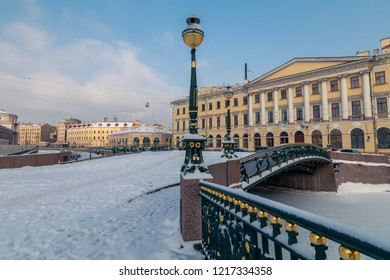 malo-konyushennyiy bridge, Sankt-Peterburg, Russia