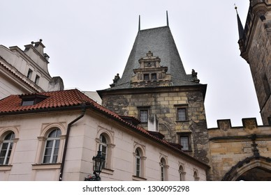 Malostranska tower on Charles Bridge,Prague
