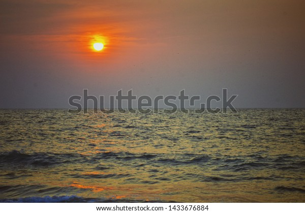 The Malpe beach, situated in Udupi District in South Canara is famous for the sunset.